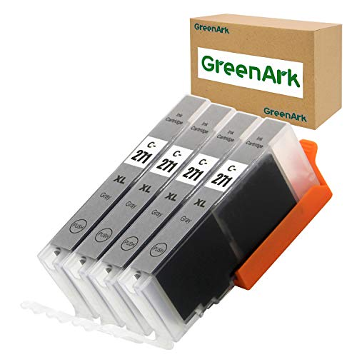 GREENARK Compatible Ink Cartridge Replacement for Canon CLI 271 CLI-271XL Gray Ink Cartridges Work for Canon PIXMA TS8020 TS9020 MG7720 Printers (Gray, 4-Pack CLI-271XL GY)