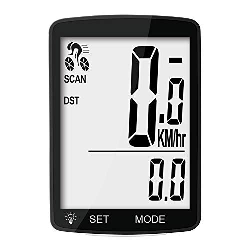 Nellvita Wireless Bike Computer, 20 Multi-Functions, Real Waterproof Bicycle Speedometer, Cycling Odometer with 3'' Large LCD Display(Simple to Read), Easy to Use