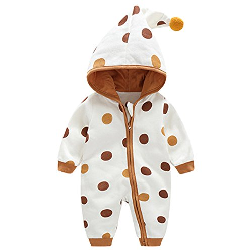 Bebone Baby Kleidung Jungen Mädchen Strampler Neugeborenen Overall (Braun 2, 9-12Monate/73cm)