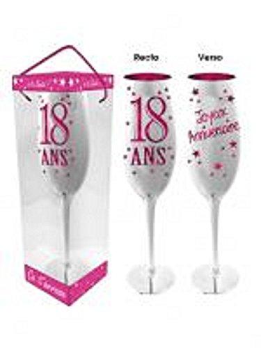 Flûte à Champagne 18 Ans - Bleu ou Rose