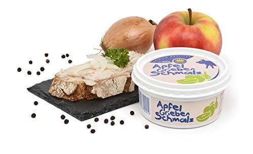 Apfel-Griebenschmalz 200g Becher - Schweineschmalz mit Äpfeln, Zwiebeln und Schweinegrieben - Schweinefett - Geschenkidee WF-18358