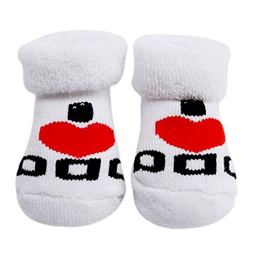 Chinget Baby Jungen Mädchen I Love Dad/Mum Socken für 0-6M Neugeborene Weiß (Stil 1)