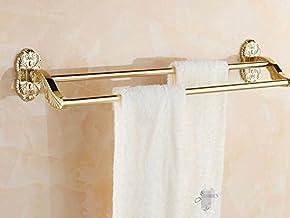 Fokky Handdoekrek stang handdoekhouder handdoekhouder roestvrij staal badkamer houder handdoek haak goud 59 cm