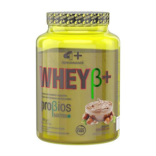 4+ NUTRITION - Whey β+, Integratore Sportivo, Proteine del Siero del Latte Concentrate, Aumento di...