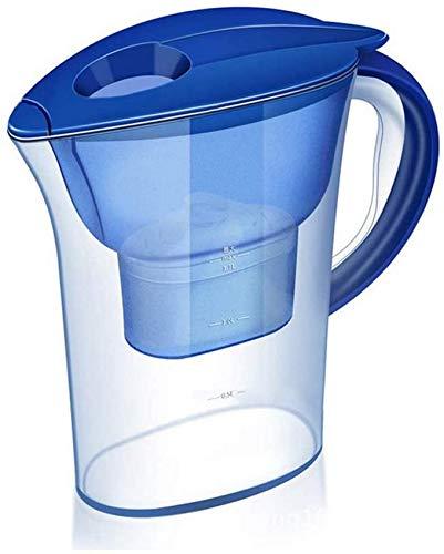 XYSQWZ Jarra De Filtro De Tazas Portátil Purificador De Agua del Grifo De La Cocina del Grifo De La Cocina del Hervidor De Agua Directo De La Bebida De 2.5l con 3 Cartuchos De Filtro
