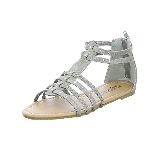 GIRLZ ONLY Sandalette GH10524 Kinderschuh Mädchen Sommersandalette Grau (Grey) Größe 35 EU