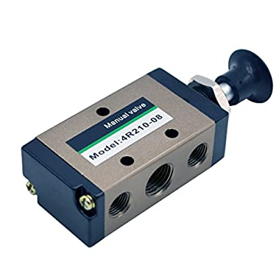 """MAYMII 4R210-085 Way Pneumatic Air Hand Lever Operated Valve Solenoid Valve Port 1/4"""" Manual Control Valves by MAYMII"""