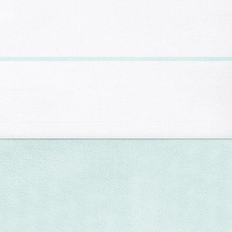 Jollein 008-524-64462 laken wit met paspel, 120 x 150 cm, jade