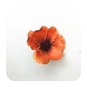 SmarketL 15Colors 7CM Artificial Silk Poppy Flower Heads for DIY Wedding Decoration Hairpin Wreath Accessories Festival Supplier-15-15 Pieces