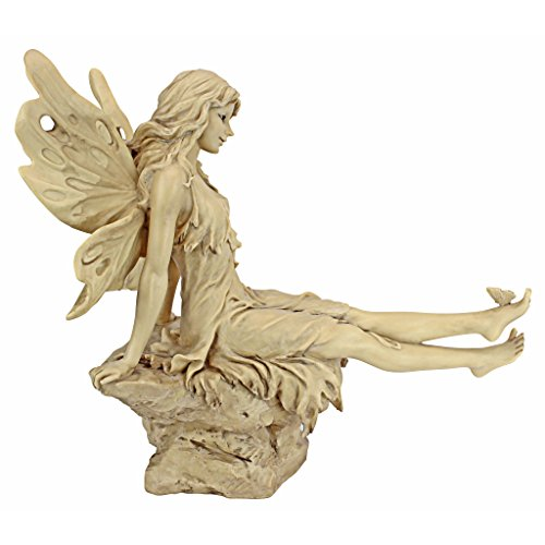 Design Toscano Twinkle Toes Fairy Garden Statue, 13 Inch, Polyresin, Ancient Ivory
