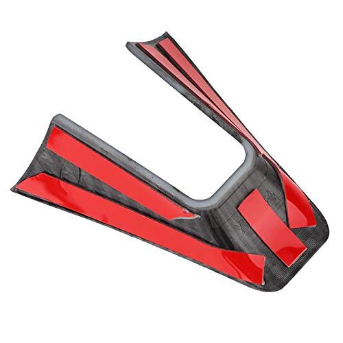 Ymiko Steering Wheel Frame Trim, Carbon Fiber Style Steering Wheel Decoration Frame Cover Trim Strip
