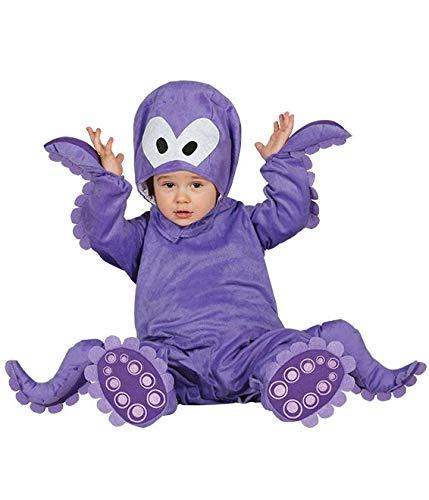 Guirca - Costume polpo Baby, Viola, taglia 6-12 mesi