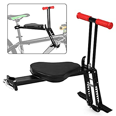 CNCEST Foldable Child Bicycle Seat Kids Baby Bike Saddle Lightweight Safety Kids Safety Front Chair Mount Carrier