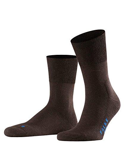 FALKE Unisex Run Ergo Unisex Baumwoll Strümpfe Einfarbig 1 Paar Socken, Braun (Dark Brown 5450), 42-43 EU
