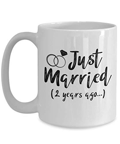 Egoa-mok met grappig motief voor het bruidspaar 02 jaar Fa 2. Verjaardag beste 2e Verjaardag bruiloft 2e Echtmann thee mok van keramiek 330 ml beker van porselein R