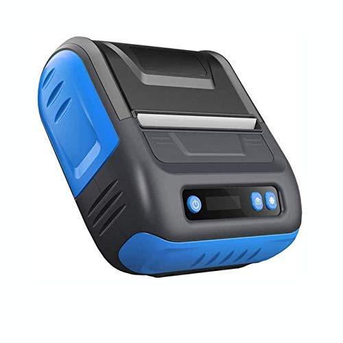 DJDLLZY Etikettskrivare, Utskriftsstorlek 80mm, Kompatibel med Android & iOS & Windows, för kläder, smycken, stormarknad etc, termisk skrivare, kvitto skrivare, (svart)