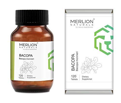 MERLION NATURALS Bacopa Tablets (Brahmi) Bacopa monnieri, All Natural, Pure Herbs 500mg x 120 Tablets