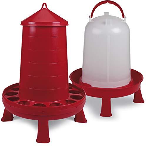 FINCA CASAREJO Pack comedero plástico con Patas 16 kg + Bebedero plástico con Patas 10 L