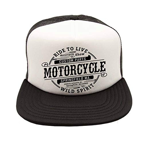 Rebel on Wheels Gorra de béisbol para hombre y mujer, visera plana, visor, Springfield Motorcycle, moto