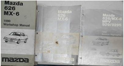 1990 Mazda 626 Mx 6 Service Repair Shop Manual Set How To Fix Oem Mx6 Mx 6 90 Workshop Manual 1990 Mazda 626 Wiring Diagram Service Highlights Mazda Amazon Com Books