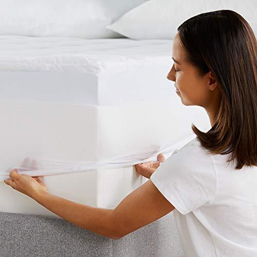 Sleep Innovations 4-inch Dual Layer Gel Memory Foam Mattress Topper Ultra Soft Support, King
