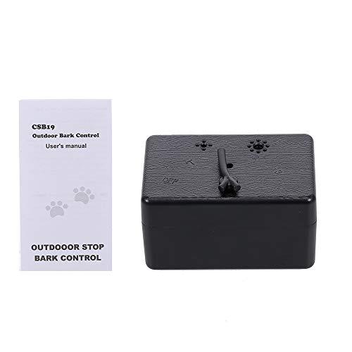 Tidyard Perro Seguro para Mascotas Control de ladridos al Aire Libre 50 pies Sonido ultrasónico contra los ladridos Dispositivo a Prueba de Agua 4 Niveles de Entrenamiento de Perros Perros