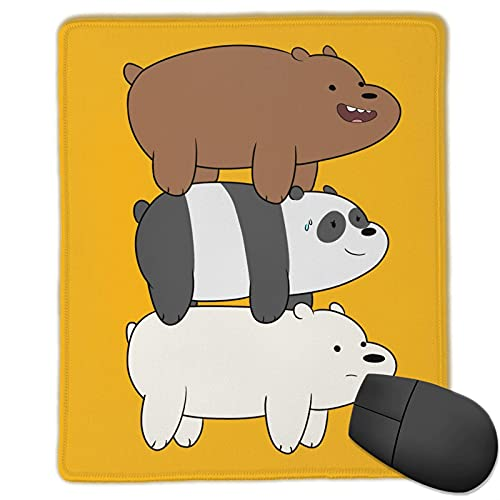 We Bare Bears Cartoon Mouse Pad Custom Mousepad Gaming Mat Waterproof Non-Slip Mouse Pads for Computers 10x12 Inches