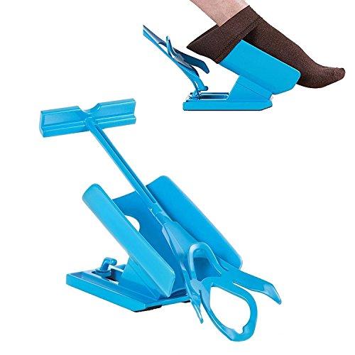 biggroup Sock Slider Easy On / Easy Off - Sockenhelfer-Set zum An- und Ausziehen der Socken ohne Bücken