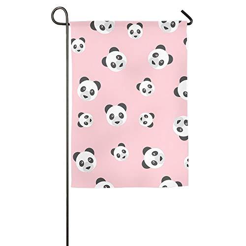 HujuTM Panda Pink Home Garden Indoor/Outdoor Flags 18\