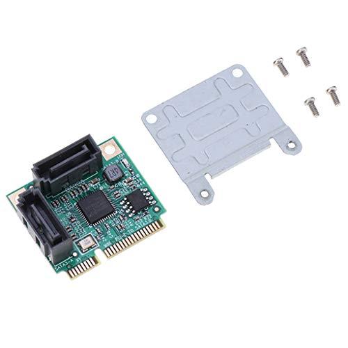 ミニPCI E SATA拡張カード 2ポート 増設ボード Mini PCIE to SATA III拡張カード 6Gbp 高速