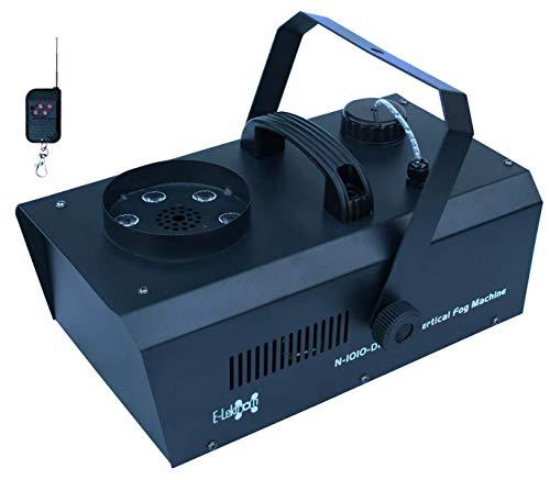 E-Lektron NV-1010-DMX vertikal Nebelmaschine 1000W mit RGB LED Beleuchtung DMX und Funk-Fernbedienung