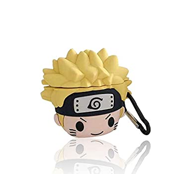 Compatible with for Airpods 1/2 Cute Case,3D Cute Funny Fashion Cartoon Anime Character Naruto Silicone Designer Airpod Cover,for Girls Teens Boys Air pods  Yellow Naruto