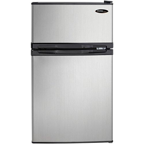 Danby DCR031B1BSLDD 3.1 cu. ft. 2 Door Compact Refrigerator, Steel (Pack of 1)