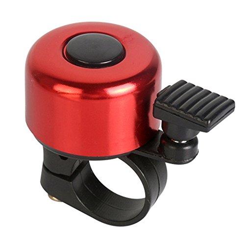 Ellepigy Rerto Fahrrad Glocke Klingel Ring Fahrradglocke mit Aluminium Fahrradklingel (Rot)