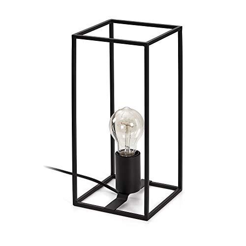 Kave Home - Lámpara de sobremesa Lennox negra de acero
