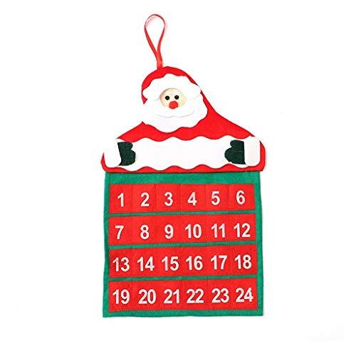 WARMWORD Calendario de Navidad Adviento, Calendario de