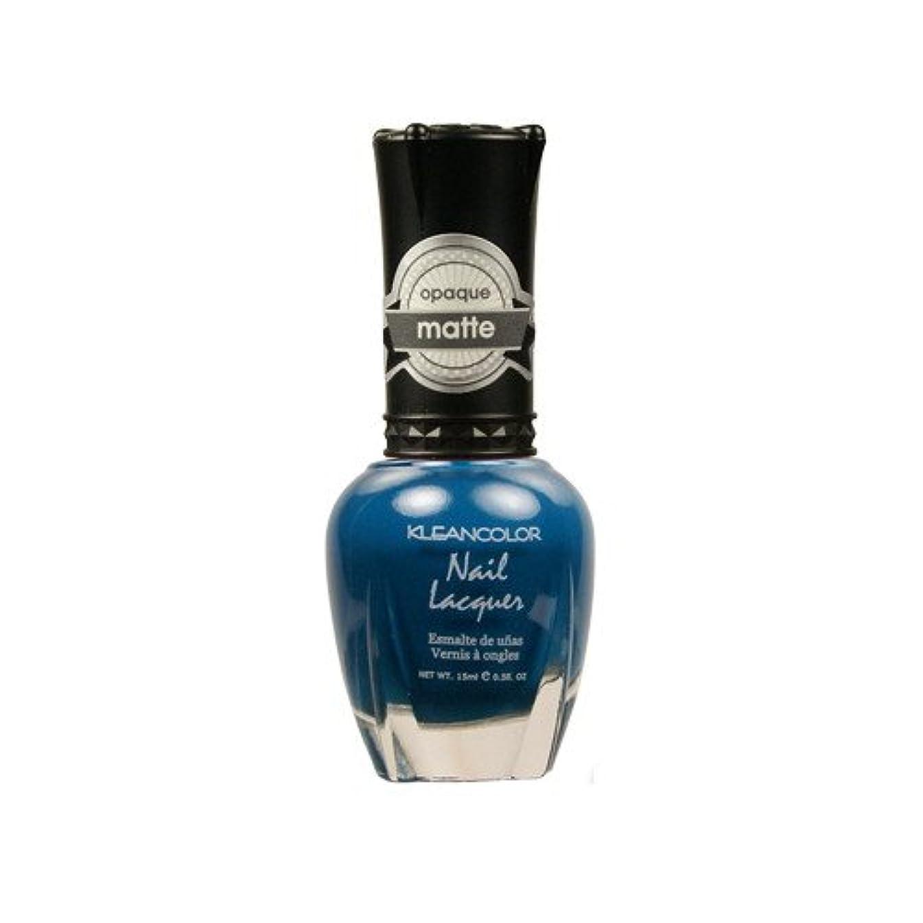 笑機動グローバル(3 Pack) KLEANCOLOR Matte Nail Lacquer - Sensual Lagoon (並行輸入品)