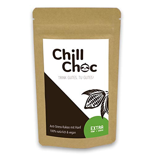 ChillChoc | Anti-Stress-Trinkschokolade, Kakao | warm und kalt genießen, Top-Geschenke (Extra, 100)