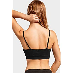 Sofra Women's 6 Pack of Seamless Padded Sports Bras- Essential
