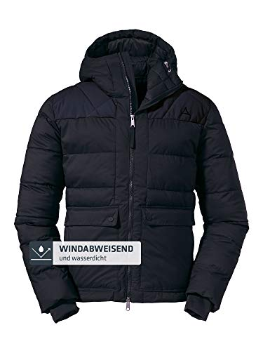 Schöffel Herren Insulated Boston M Winterjacke mit Kapuze, Schwarz (black), 46