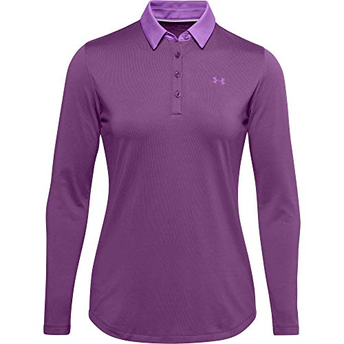 Under Armour Polo A Manica Lunga Zinger, Donna, Baltic Plum/Exotic Bloom/Exotic Bloom (519), SM