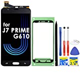 LCD Screen Replacement Touch Digitizer Display Assembly for Samsung Galaxy J7 Prime G610 G6100 G610F SM-G610M/DS SM-610F/DS On7 2016 with Repair Tools and Adhesive (Black)