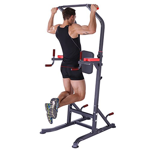 K KiNGKANG Power Tower Dip Station Workout Pull up for Home Gym Adjustable Height Strength Training Fitness Equipment