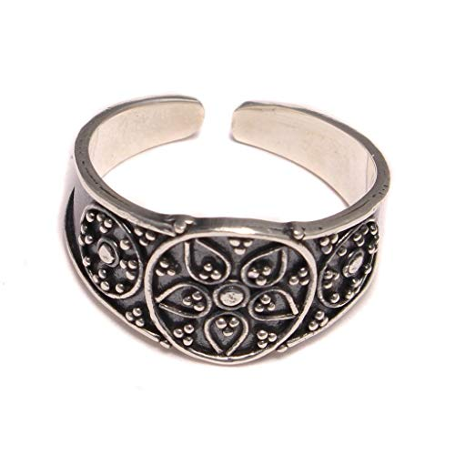 Hermosa del dedo del pie genuino de 925/plata de ley (1290)-