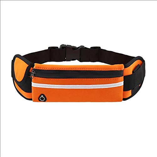 DYB Correr Paquetes de la Cintura - Running Bolsa Portable Durable Delicado diseño a Prueba de Agua Deportes Bolsa de Cintura Unisex de la Gimnasia de Fanny Pack for Correr Correr (Color : Orange)