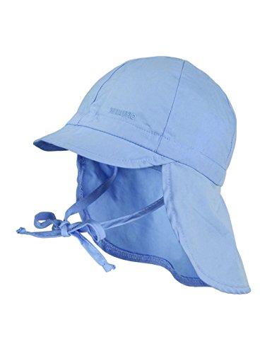maximo Jungen Mütze Nackenschutz mit Schild, UPF 15, Gr. 51, Blau (babyblau 61)