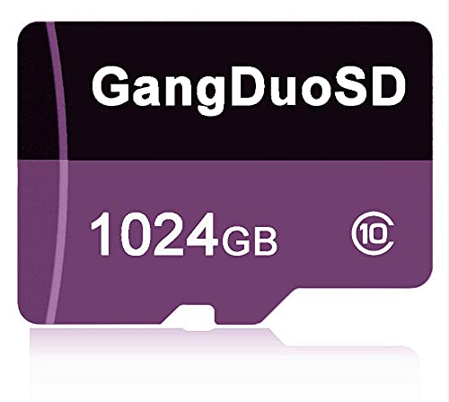 Class 10 Micro-SDXC-Karte 1024 GB 1 TB Speicherkarte mit Free SD Adapter Micro SD Card Flash Card für Smartphone Nintendo Switch Tablet Drone Digitale Kamera etc (1024 GB)
