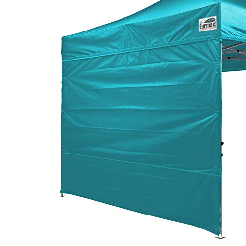 Eurmax Instant SunWall for 10x10 Pop up Canopy, Outdoor Instant Canopies, Removable Zipper End, 1 Pack Sidewall Only(Turquoise)