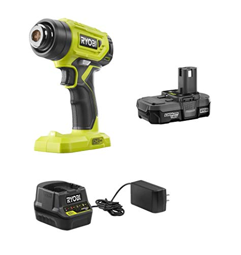 RYOBI 18-Volt Cordless Heat Gun Kit with Battery and Charger (Bulk Packaged, Non-Retail Packaging) P3150 + Battery + P118B