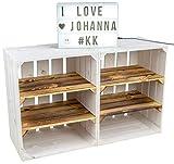 Kistenkolli Altes Land 2er Set Obstkiste Johanna Aufbwahrungsbox Weinkisten Regalkisten Aufbewahrungskisten Standregal Weinkisten Holzkisten Bücherregal